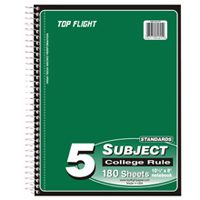 NOTEBOOK 5-SUBJECT CR 180-CT