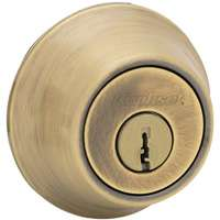 2-CYL DEADBOLT K3 ANT BRASS BX