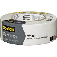 """WHITE DUCT TAPE 1.88""""X 60YD"""