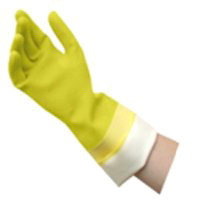 QUICKIE LINED LATEX GLOVES MED