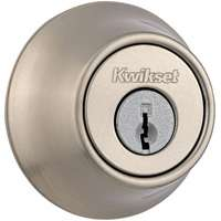 2-CYL DEADBOLT K3 STN NICKL BX