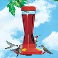 16OZ GLASS HUMMINGBIRD FEEDER