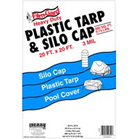 20X20 BLACK TARP/SILO CAP