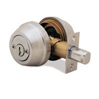 2 CYL DEADBOLT K3 SATIN NICKEL
