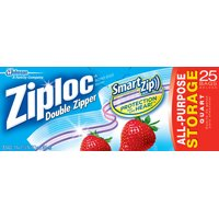 QUART ZIPLOC STORAGE BAG