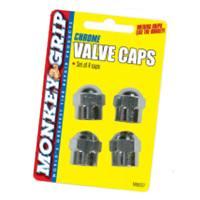CHROME HEX VALVE CAP