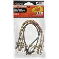 10IN MINI BUNGEE CORD 4PK