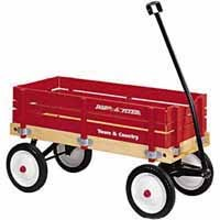 #24 TOY WAGON WOOD 36X16.5X9.5