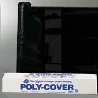 8X100FT 4MIL BLACK POLY FILM