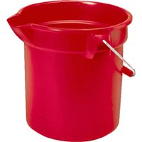 10QT RED ROUND BUCKET