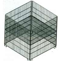 2X2 ZINC BIN ADJ SHELF GRID