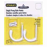WHITE SINGLE ROBE HOOK