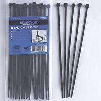 8IN CABLE TIE 40LB 25PC BLACK