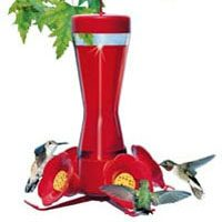 8OZ GLASS HUMMINGBIRD FEEDER
