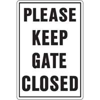41947 Please Keep Gate Closed Sign
