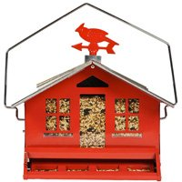 RED SQUIRREL PROOF FEEDER
