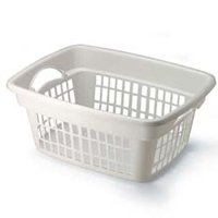 1.25BU WHITE LAUNDRY BASKET