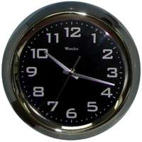 11 WALL CLOCK BLACK DIAL