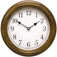9.5 ROUND WOOD WALL CLOCK