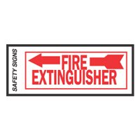 FIRE EXTINGUISHER ARROW LEFT