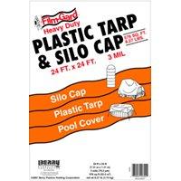 24X24 BLACK TARP/SILO CAP