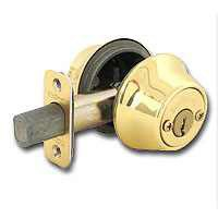 2-CYL DEADBOLT K3 BRT BRASS BX