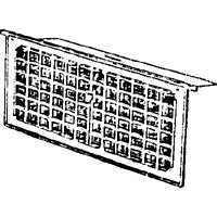 16X8IN FOUND VENTILATOR/DAMPER