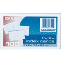 "3""X5"" RULED INDEX CARDS 100-CT"