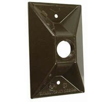 ".5"" 1 OUT CLUSTER COVER BRONZE"