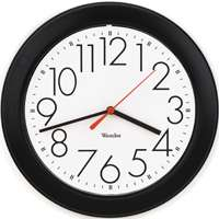 10 ROUND WALL CLOCK BLACK