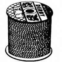 ROPE POLYP BRAID BLACK 3/8X600